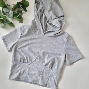 Fashion Nova sporty crop top hoodie fashionova
